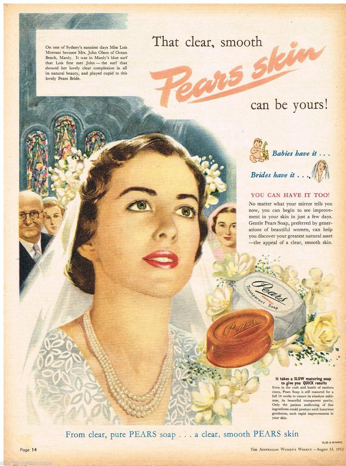 Pears Soap Ad Nell Wilson Australian Vintage Advertising
