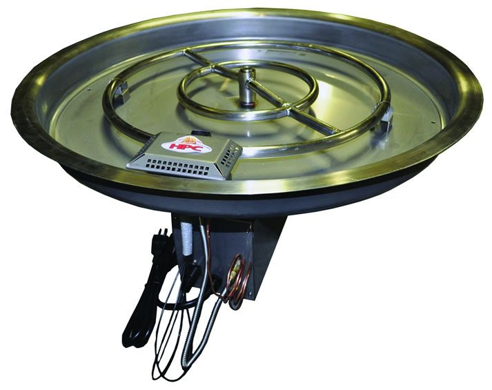 - 19 Inch Gas Fire Pit Kit 65,000 BTU With Electronic Ignition