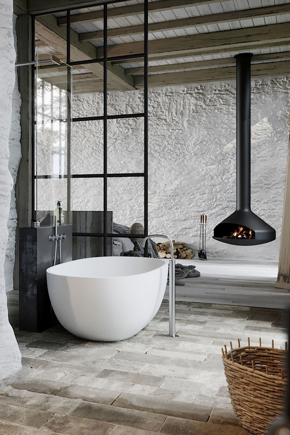 White Tub And Inox Fixtures From Bycocoon Com Inox Bath Faucet
