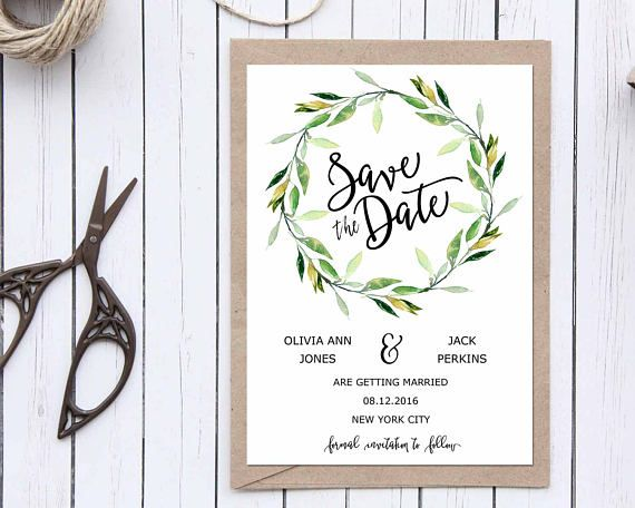 Save the Date Printable, Save the Date Template, Rustic Save The - save the date template