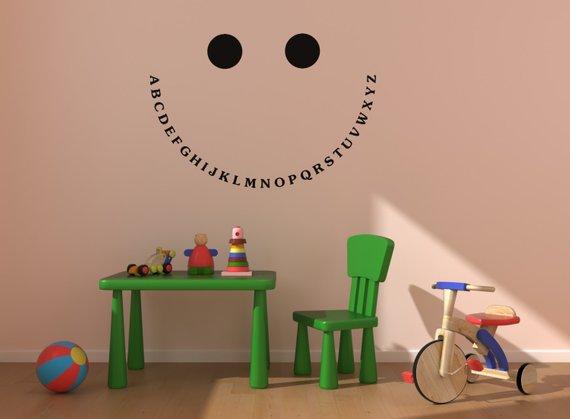 Nursery Wall Decal Abc Sticker Alphabet