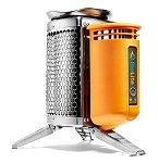 camp stove that burns twigs-pinecones AND charges your cell phone and flashlights....only $129.