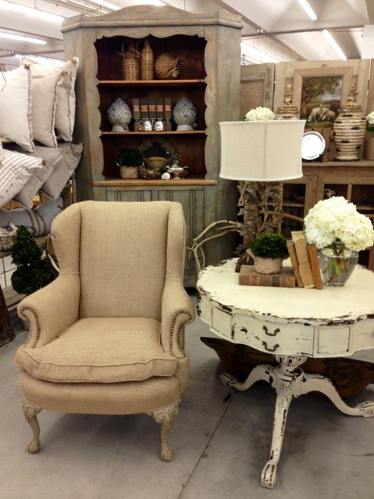 Love This Burlap Wingback.