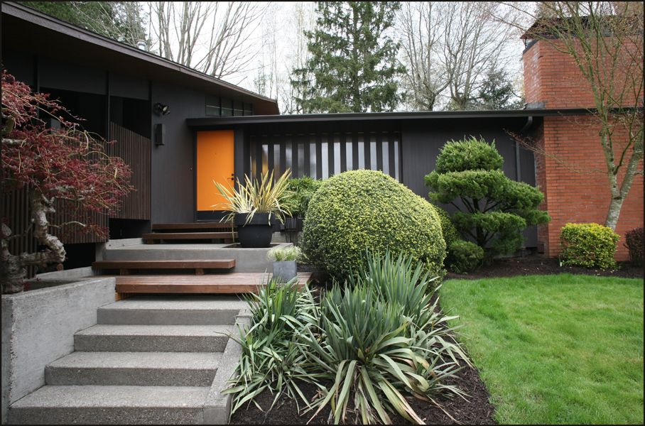 Midcentury ranch exterior Haute Homes Mid Century Pinterest