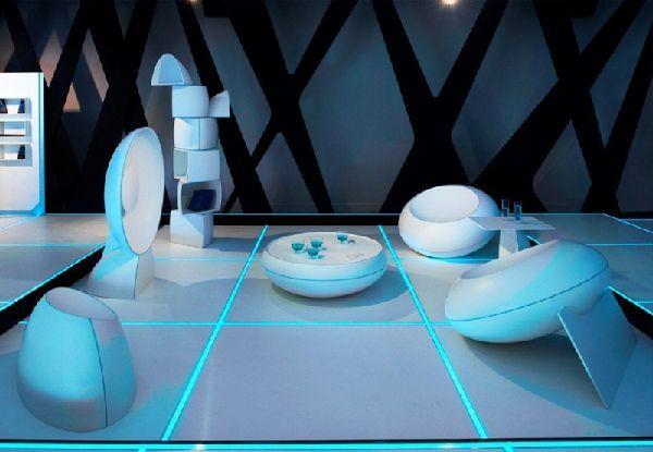 Coffe table design in tron legacy inspiration for home designing futuristi interiors
