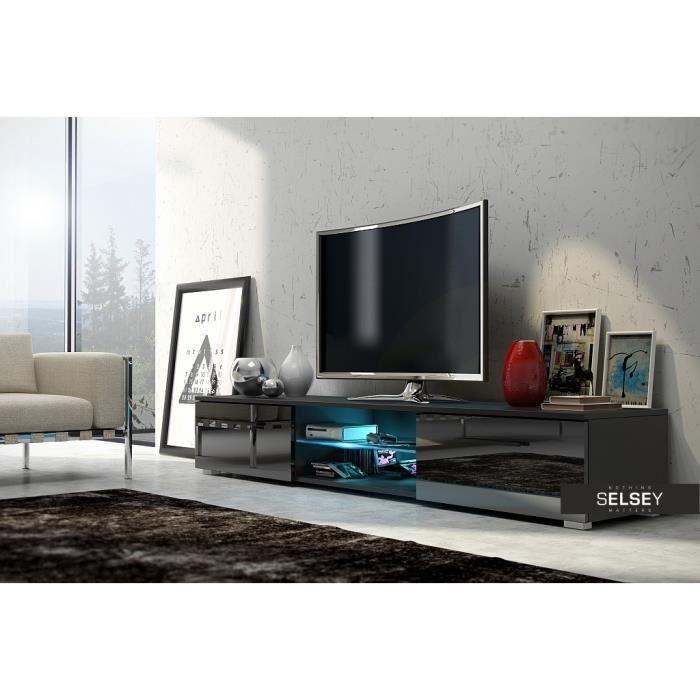 Meuble Tv Meuble Salon Edith 140 Cm Noir M Maison Du Monde
