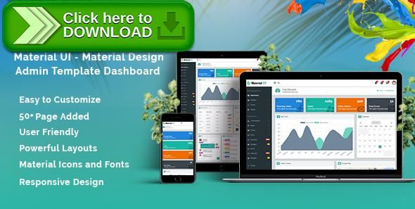 Free nulled Material UI - Material Design Admin Template Dashboard