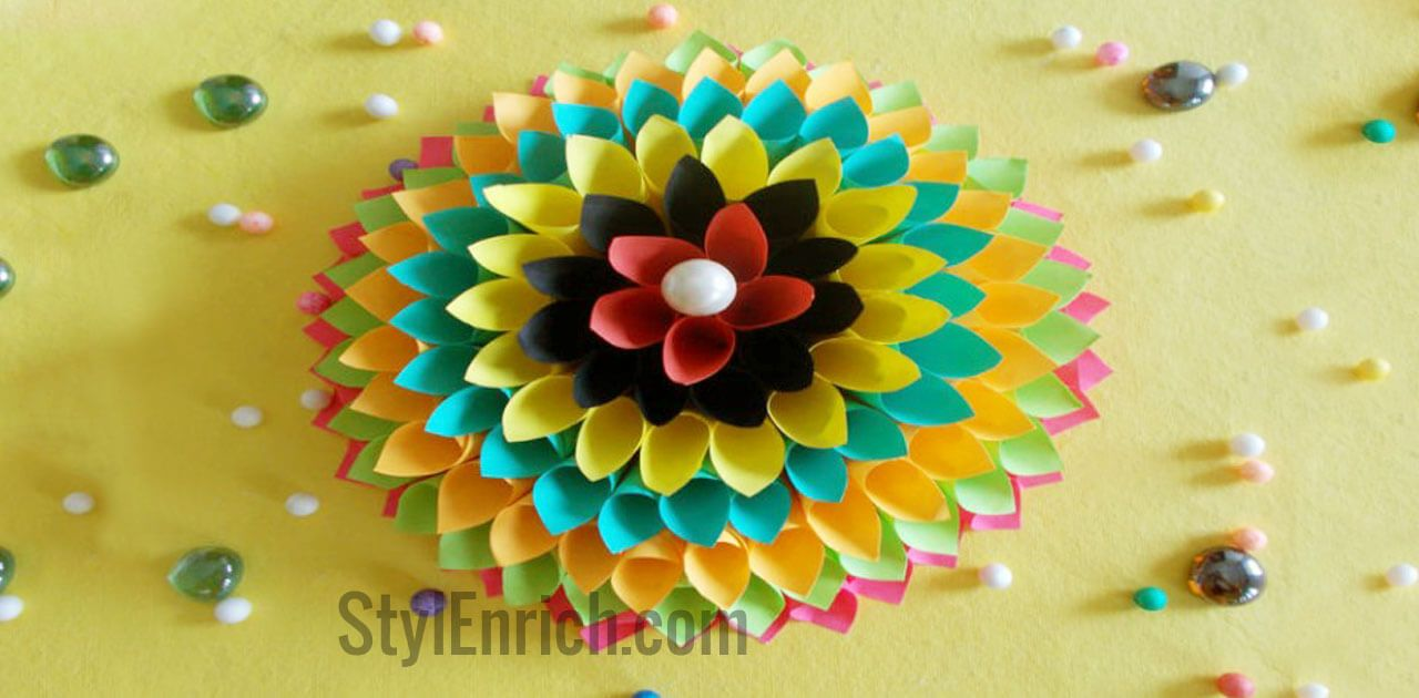 Wall Decoration Ideas like multicoloured paper craft gets kids and ...