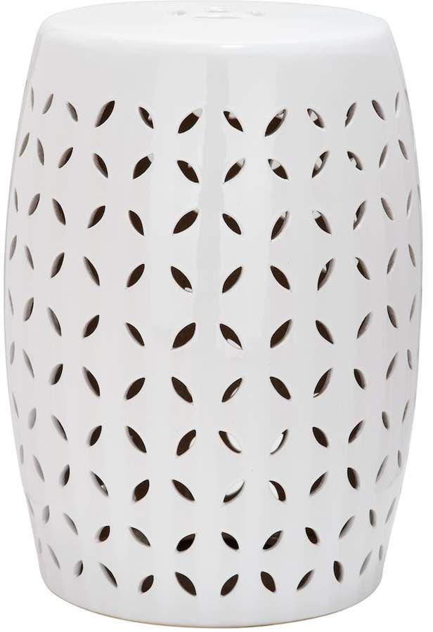 Phenomenal Safavieh Lattice Petal Ceramic Garden Stool Outdoor Pabps2019 Chair Design Images Pabps2019Com