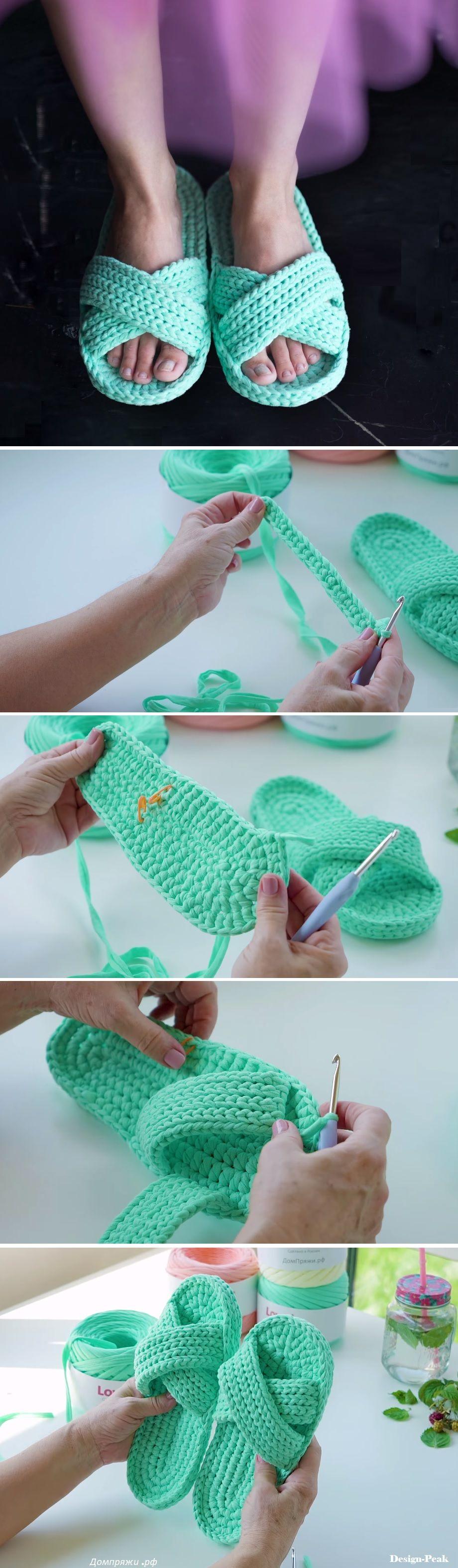 Flip-Flops – Crochet Tutorial | Tejido, Ganchillo y Zapatos