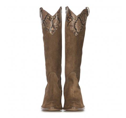 Kowbojki Damskie Ze Skory Zamszowej Wittchen Boots Womens Knee High Boots Beautiful Boots