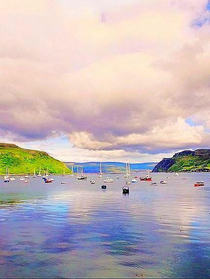 Portree Bay, #Scotland
