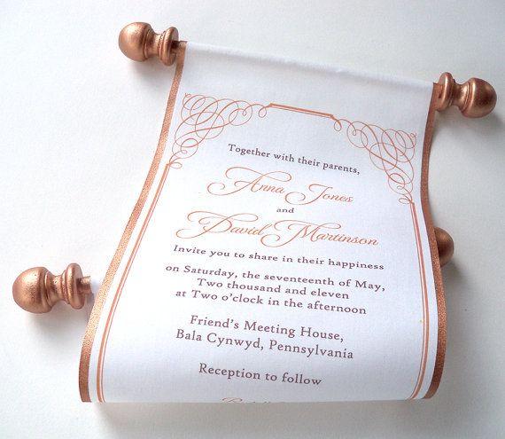 Gold Wedding Invitation Calligraphy Wedding by ArtfulBeginnings