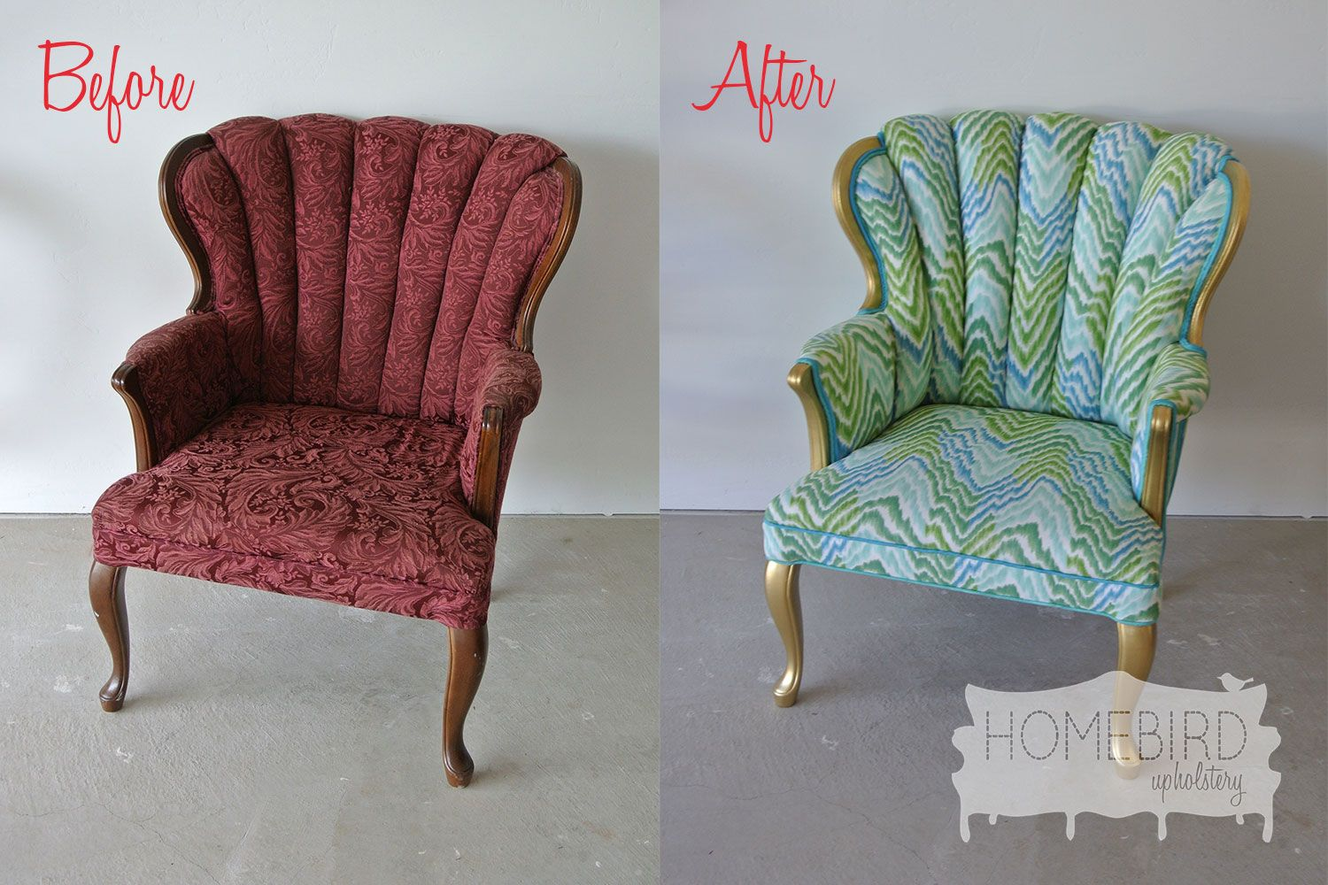 Upholstered Chair Before And After Google Search