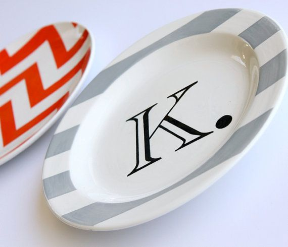 Items similar to The Simply Stated Small Rimmed Monogrammed Collection by Aedriel Originals on Etsy