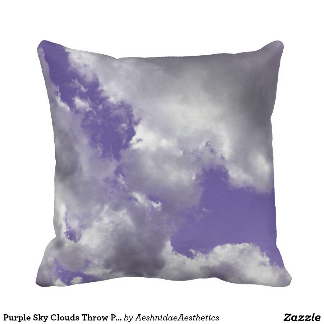 Purple Sky Clouds Throw Pillow Zazzle Com Throw Pillows Purple Throw Pillows Purple Sky