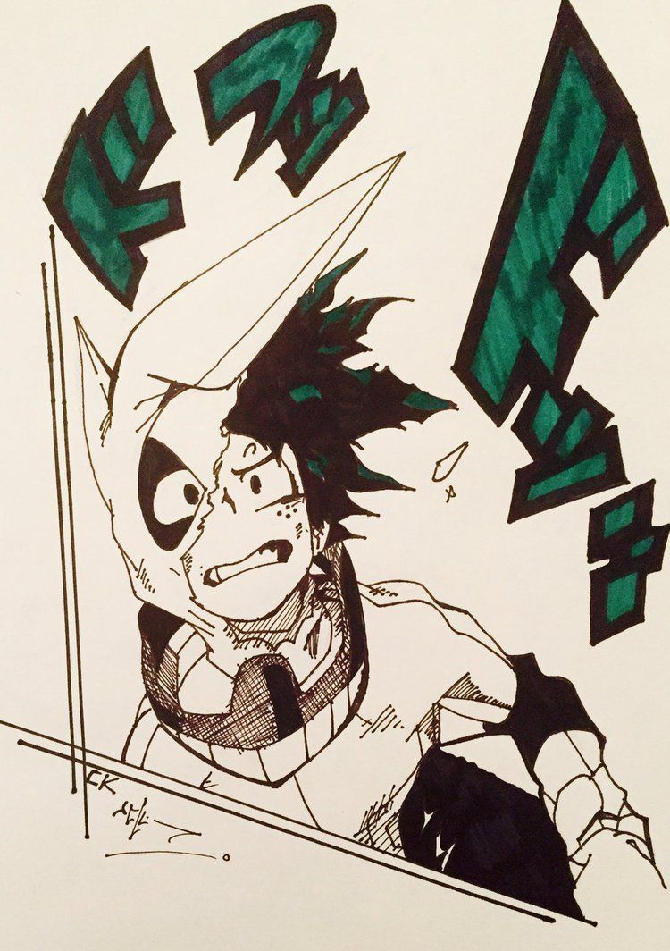 Boku No Hero Academia Midoriya Izuku Dibujo Drawing Boku No