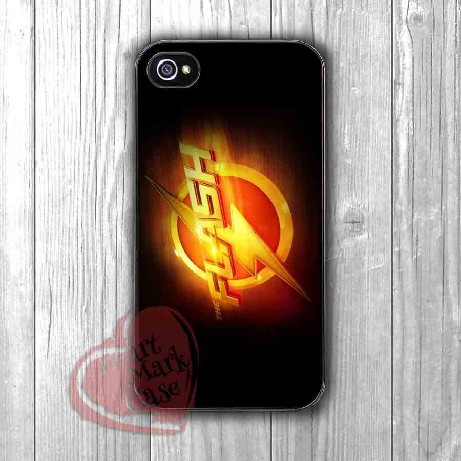 the Flash logo -i67 for iPhone 6S case, iPhone 5s case, iPhone 6 case, iPhone 4S, Samsung S6 Edge