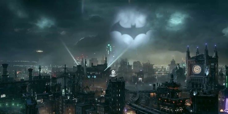 Batman Gotham City Batsignal Gotham Gotham City Arkham