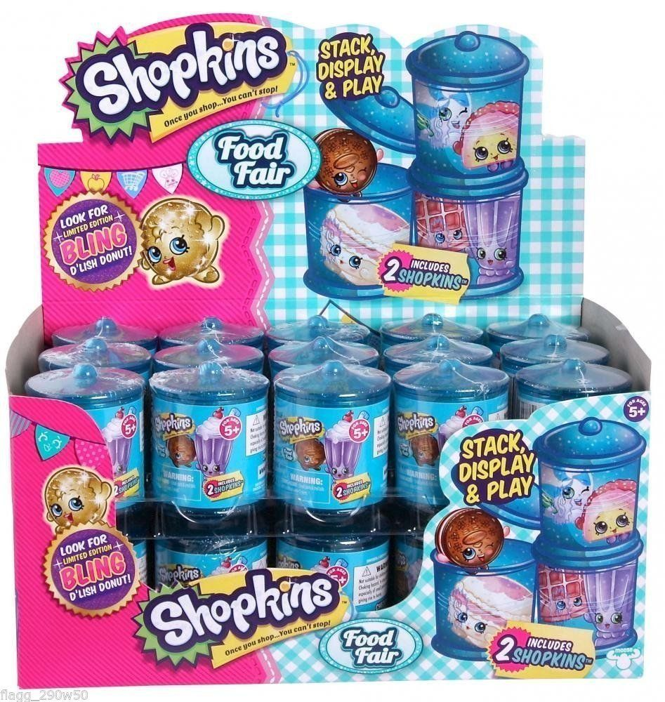 Shopkins Season 4 Food Fair 2 Pack Jar Container Blind Pack Full ...