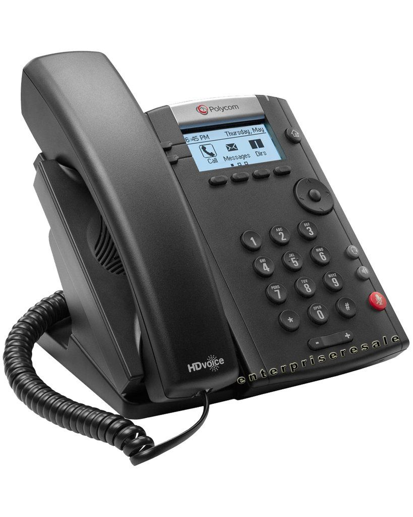 Polycom Vvx 201 2 Line Ip Phone 2200 40450 025 Refurbished