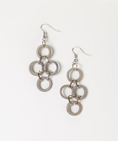Look what I found on #zulily! Gray Coco Earrings by Sylca Designs #zulilyfinds