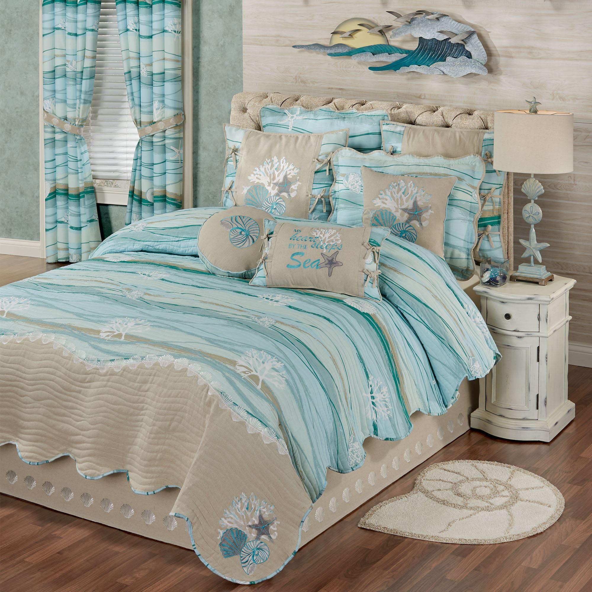 Seaview Ii Coastal Quilt Set Bedding In 2020 Bedroom Themes Coastal Quilt Sets Quilt Sets Bedding