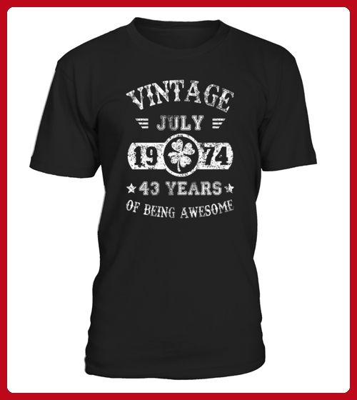 Birthday July 1974 43 Years Of Being Awesome Mens Performance TShirt - Geburtstag shirts (*Partner-Link)