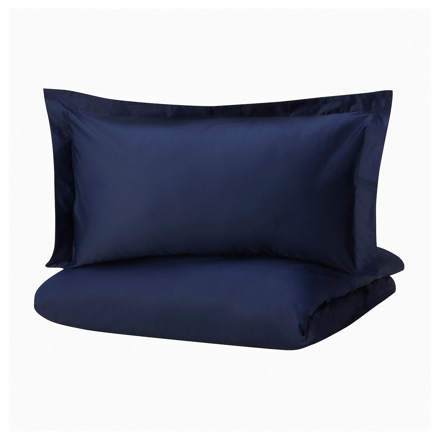 Ikea Finnskrappa Housse De Couette Et Taie S Bleu Fonce Housse De Couette Housse De Couette Ikea Draps Bleu
