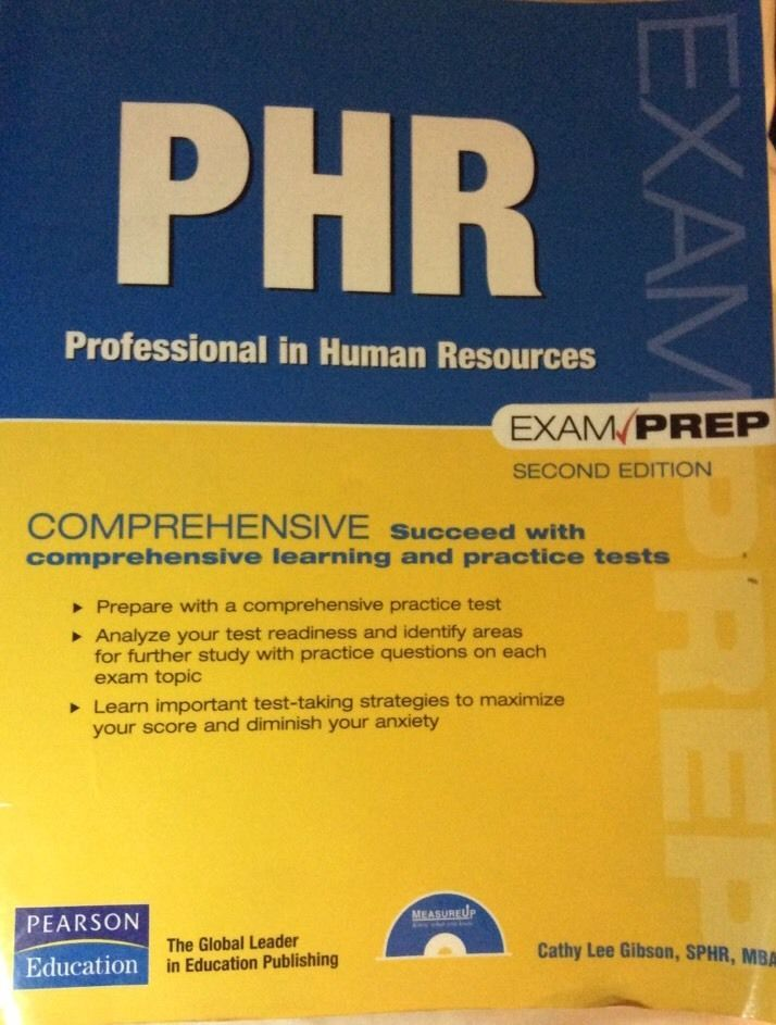 Phr Exam Prep Professional In Human Resources 2nd Edition Ebay