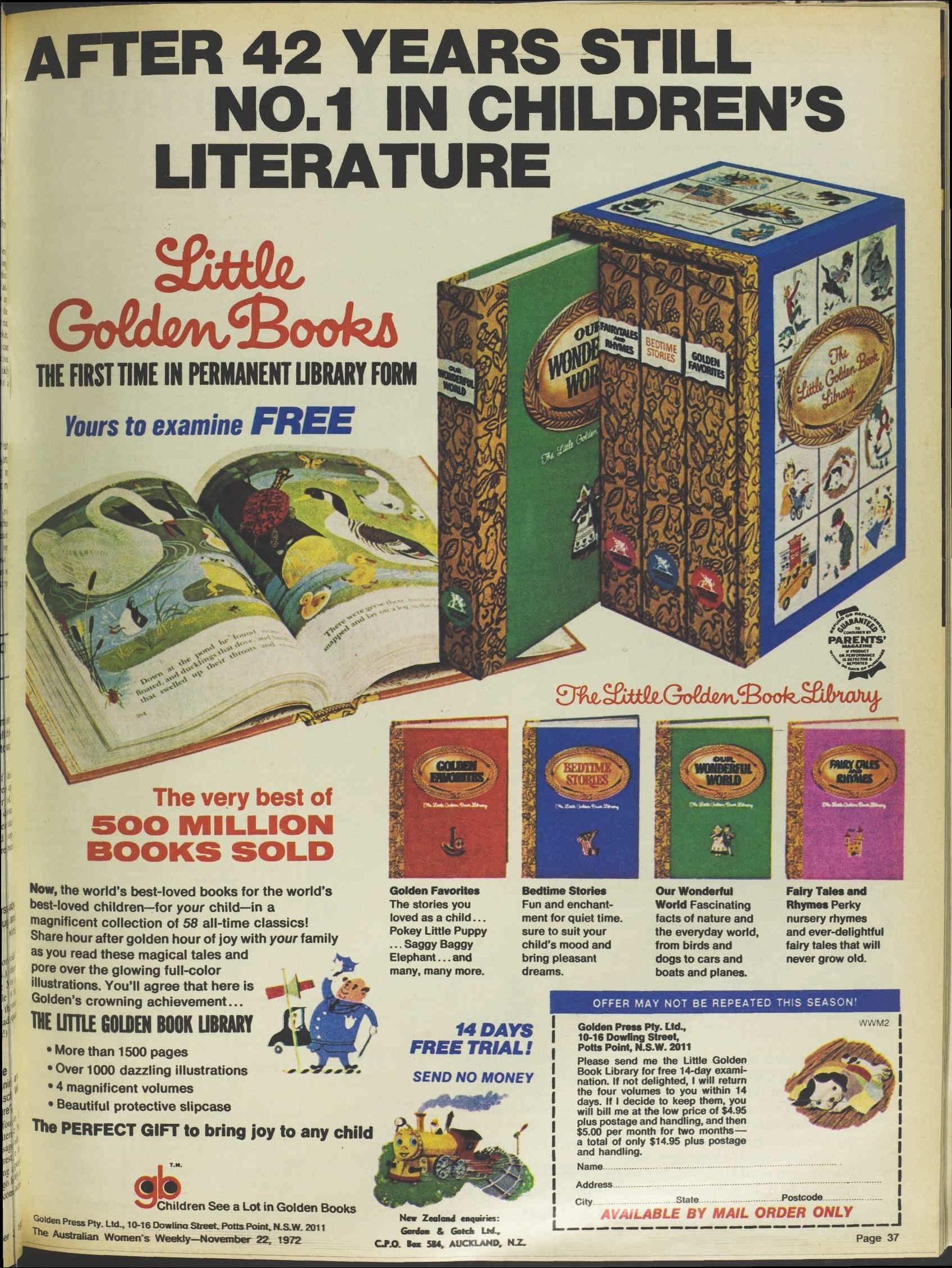 Issue 22 Nov 1972 The Australian Women S Wee Little Golden Books Children S Literature Historical Newspaper