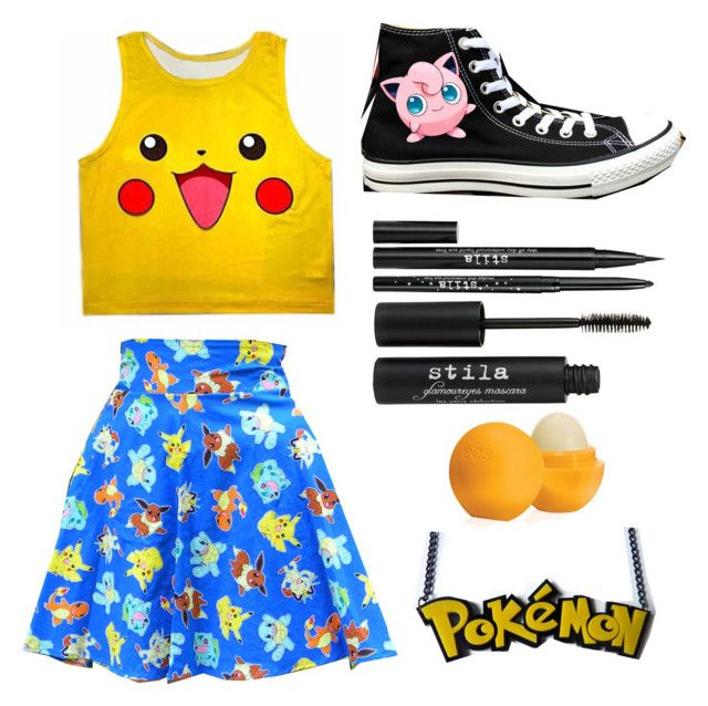 """""""Untitled #2195"""" by picky-picky ❤ liked on Polyvore featuring Converse, Stila and Eos"""