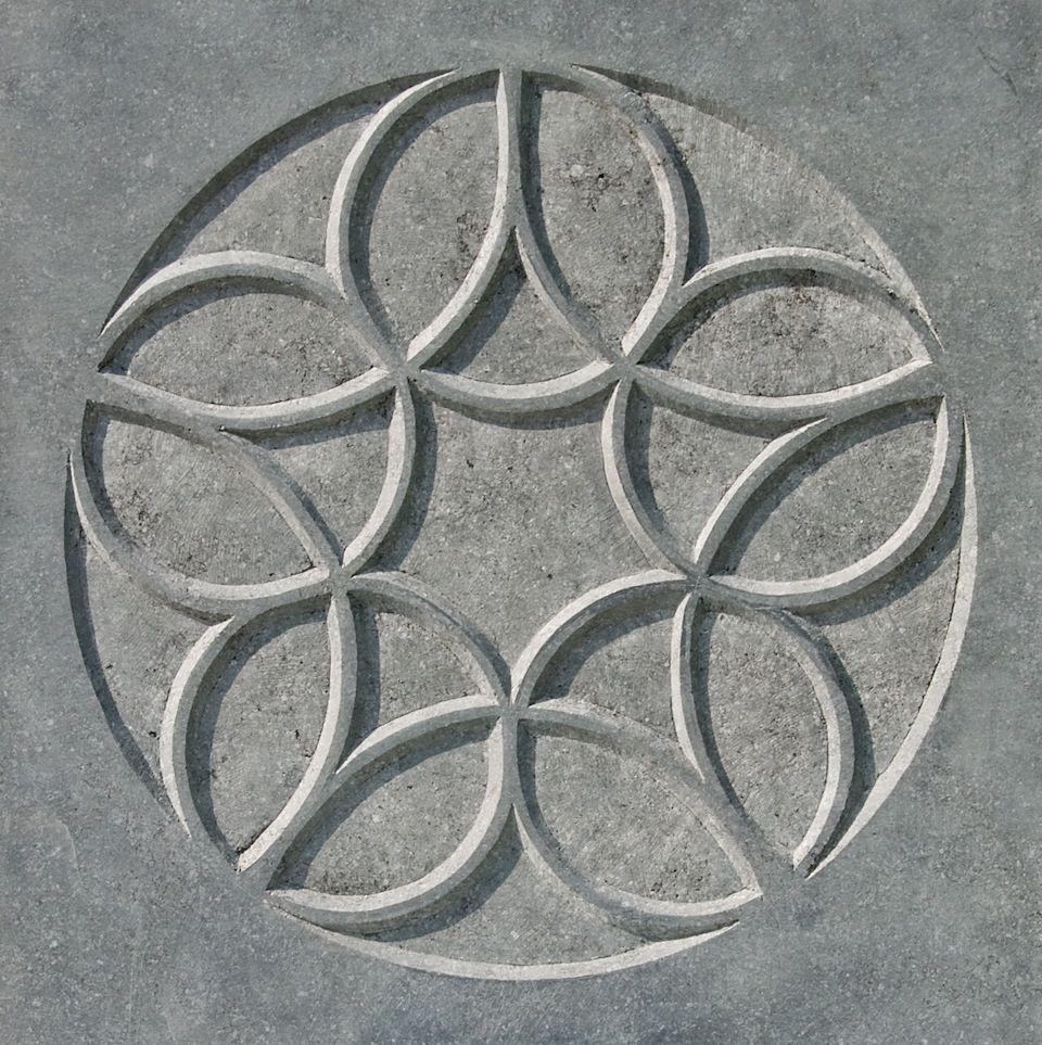 Stone Rose II, 2009, limestone