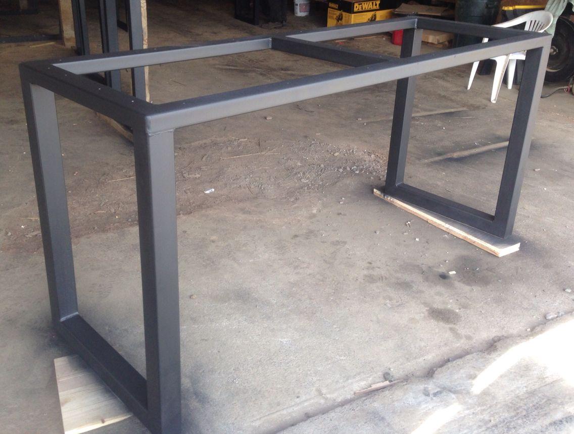 3x3 hr steel custom metal table base