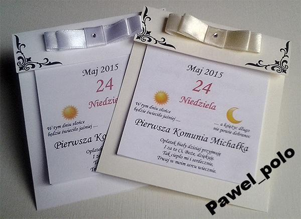 Zaproszenia na Komunię Świętą kartka z Kalendarza (5171075723) - Allegro.pl - Więcej niż aukcje.