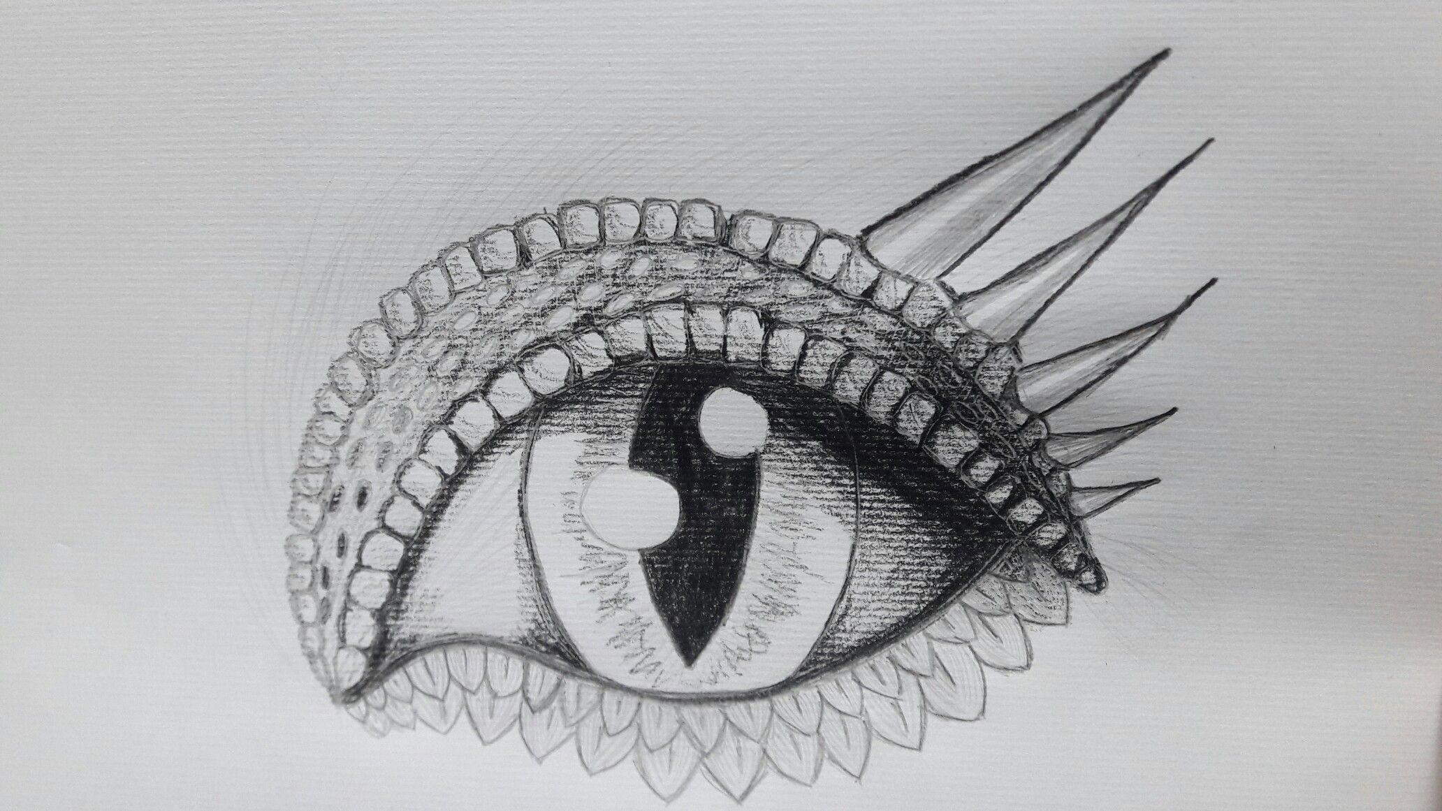 dragon eye. pencil sketch by Tryphina (DeviantArt)