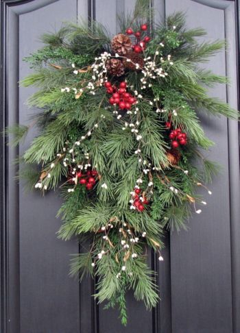Christmas Door Decoration NAVIDAD CORONAS Pinterest Christmas