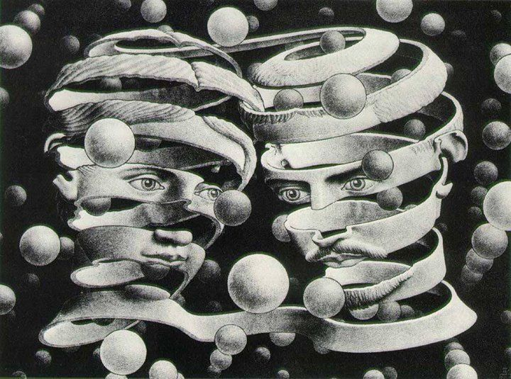 Imagine Walt & Grandpa trying to figure things out when they look like this... (inside an Escher!)