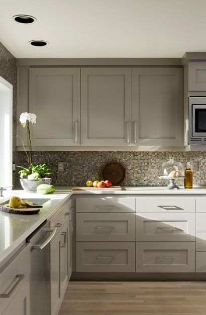 The Psychology Of Why Gray Kitchen Cabinets Are So Popular Grey Painted Kitchen Kitchen Design Grey Kitchen Cabinets