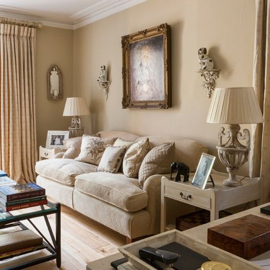 Pale decorative living room living room decorating ideas for Neutral front room ideas