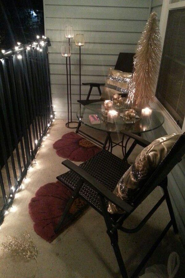 15 amazing balcony decor ideas for christmas apartment balcony decorating small apartment on christmas balcony decorations apartment patio id=73774