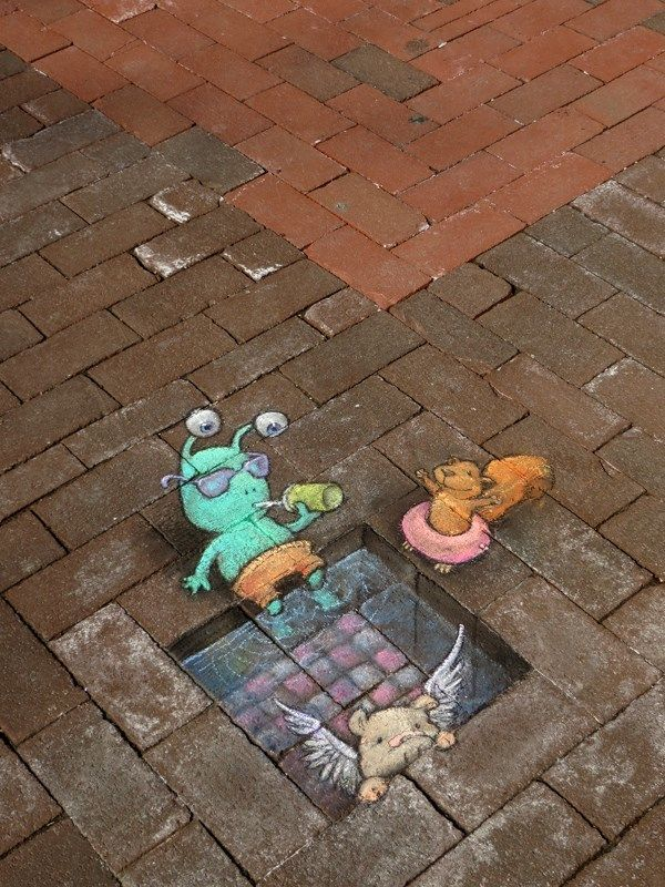 Delightful Illustrations of Quirky Characters on the Streets of Ann Arbor - My Modern Met #streetart