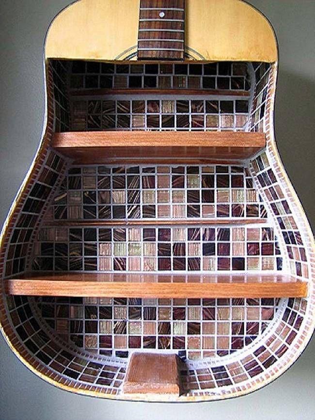 This guitar shelf has a gorgeous mosaic pattern 4home pinterest handmade crafts solutioingenieria Gallery