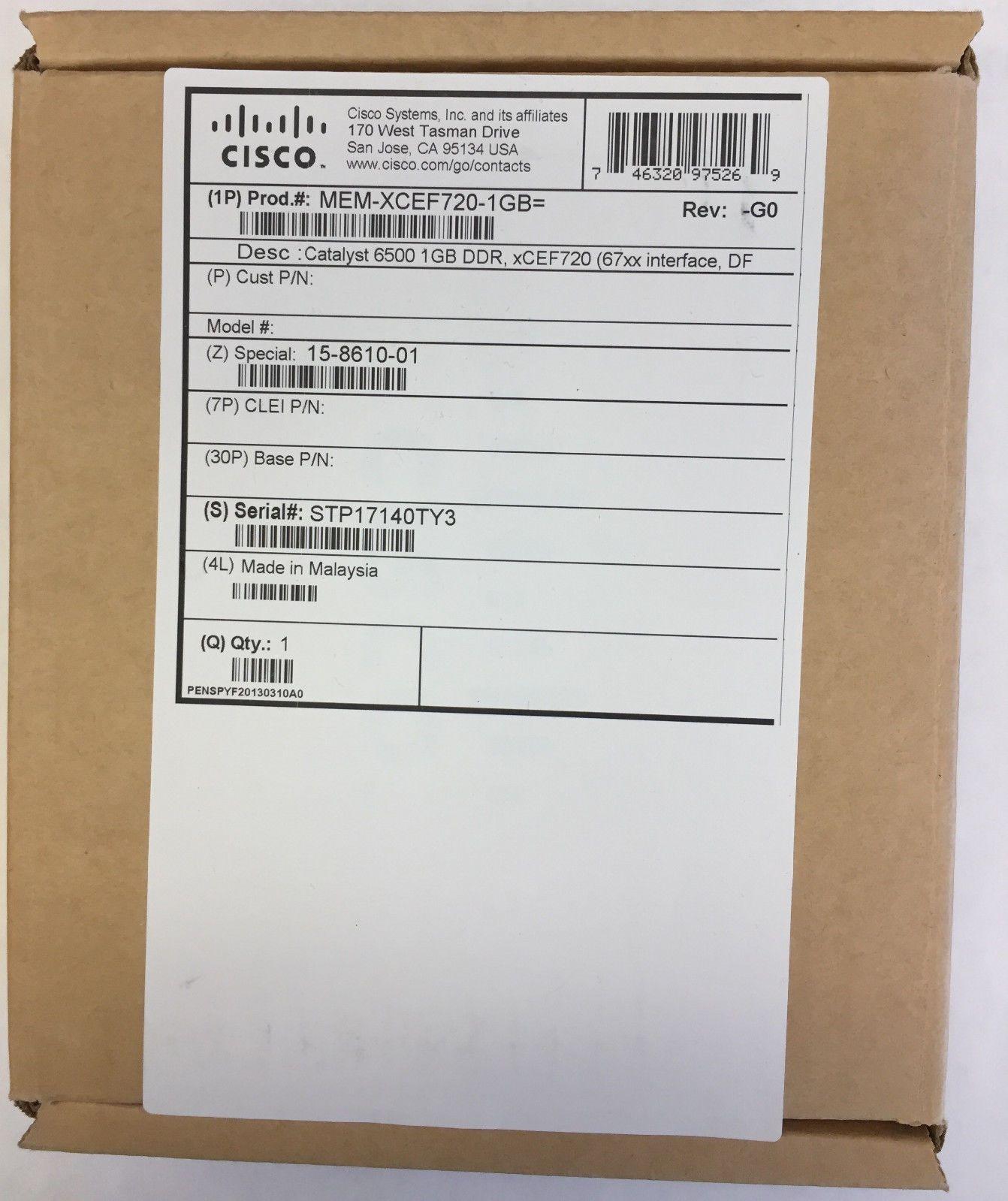 Router Memory 67292: Mem-Xcef720-1Gb Genuine 1Gb Memory For