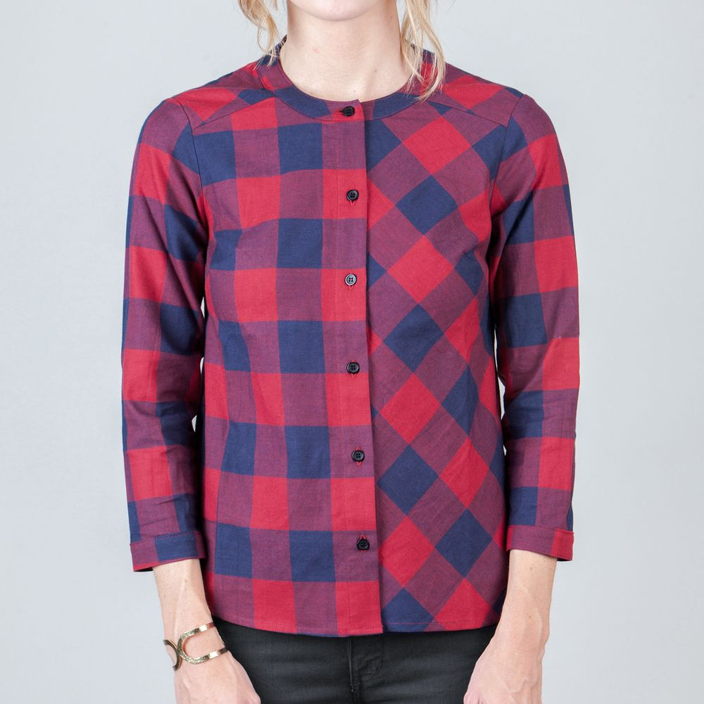 Plaid eva button up style pinterest plaid gingham and simple