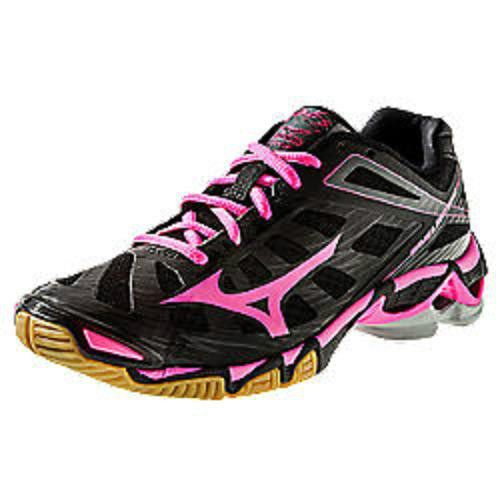81000fdfbec2 Mizuno 430168 Women's Wave Lightning RX3 Volleyball Shoes-Black/Pink Size 10