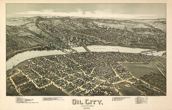 24x36 Vintage Reproduction  Historic Map Windber Pennsylvania 1900 Somerset