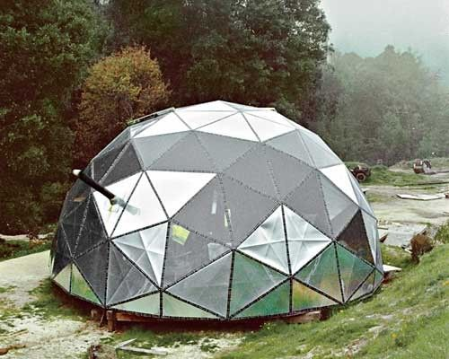 Geodesic Dome In Mirror