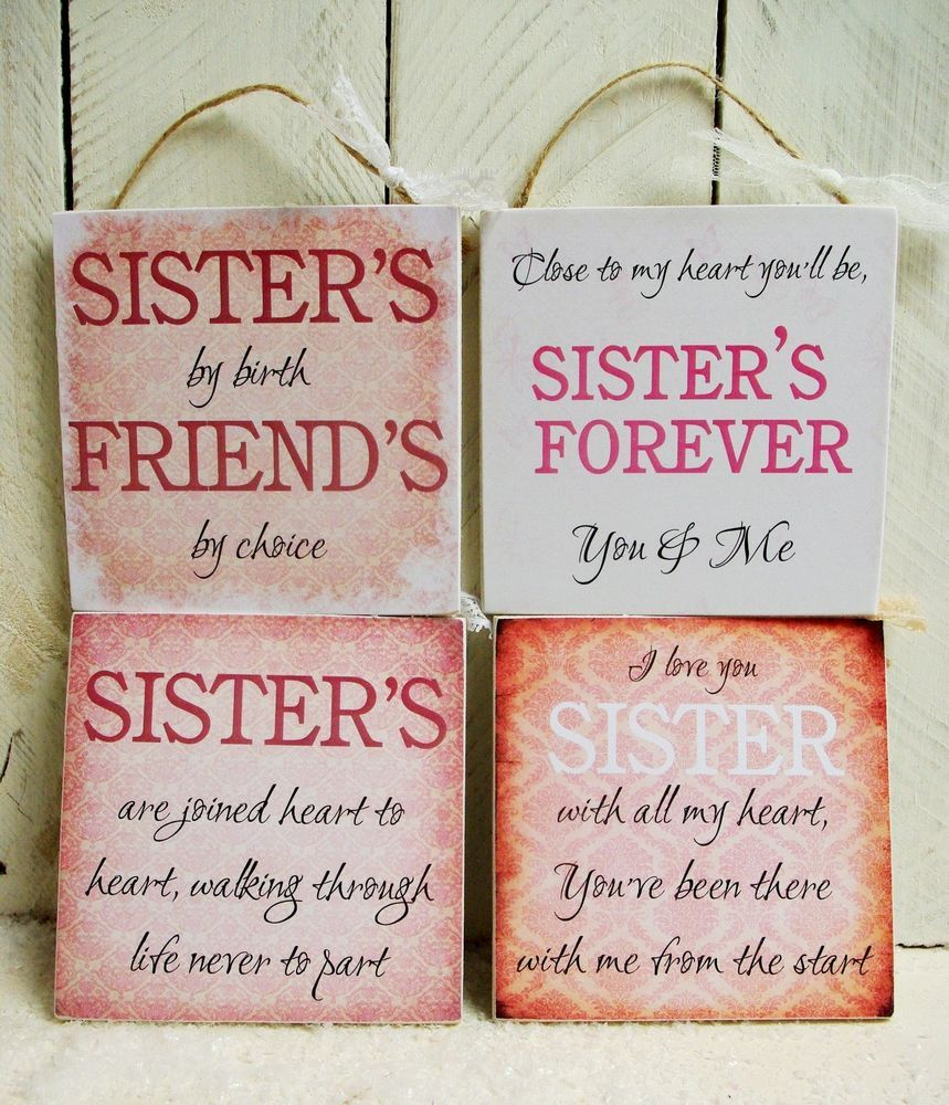 Handmade plaque sign gift present sister sayings quotes christmas ...