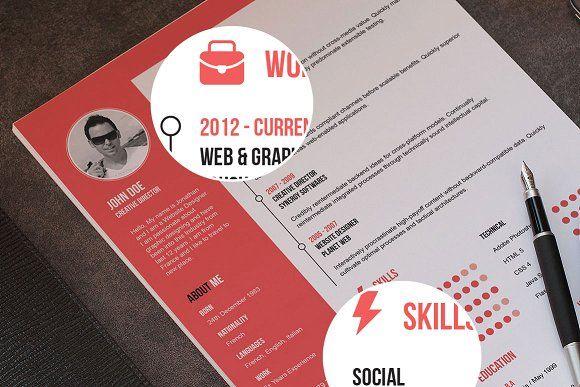 Flat Resume + Cover Letter Pinterest Resume cover letters